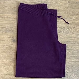 Very Soft & Cozy Tina Knowles Plum Lounge Pants